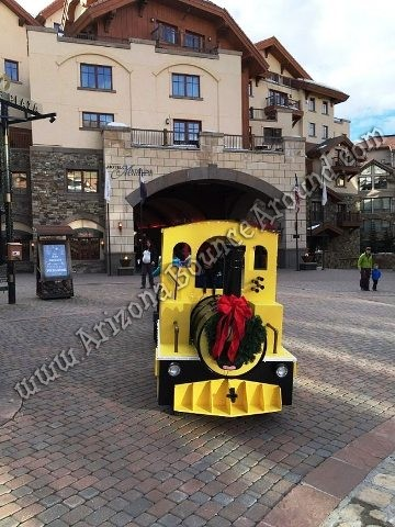 Rent a trackless train in Colorado
