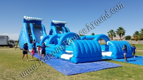 Big Inflatable water slide rentals without pools Denver CO