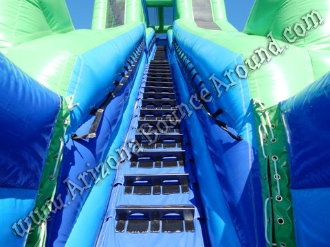 Big duel lane water slide rentals in Denver Colorado
