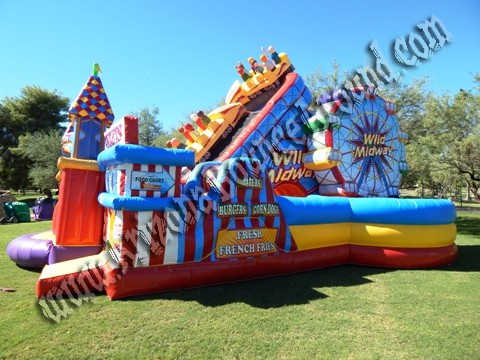 Carnival themed Inflatable obstacle course rentals in Denver Colorado