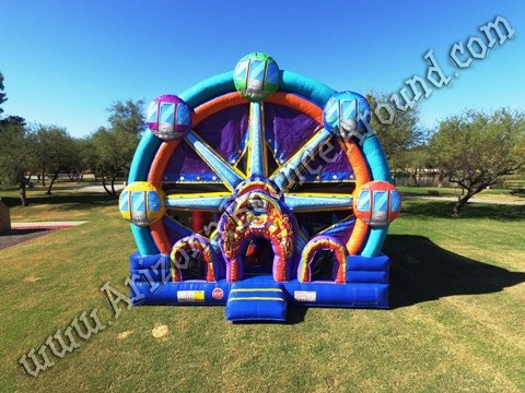 Carnival themed bounce house rental