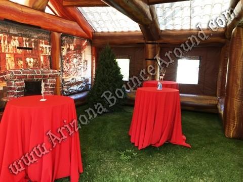 Inflatable Log Cabin Rentals - Santas Workshop Rental