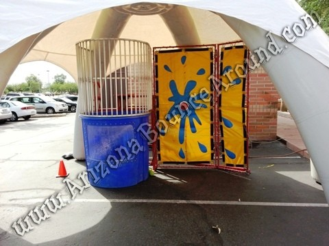Dome tent with dunk tank