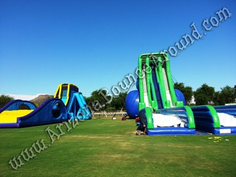 Dropkick water slide rentals