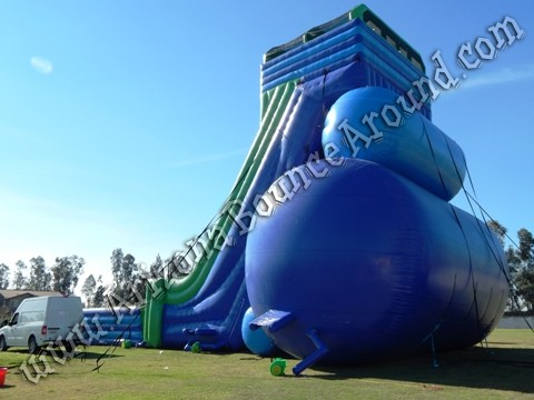 Duel lane drop kick water slide rental Colorado