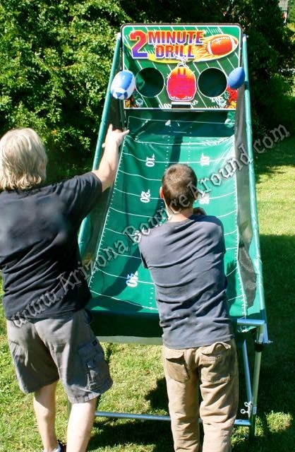 Electronic Football throwing game rental Denver