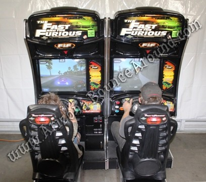 Fast and Furious sit down driving game rentals in Denver, Fort Collins Colorado
