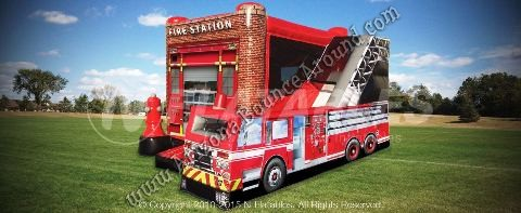 Fire Station Combo Bounce House Rentals Denver CO