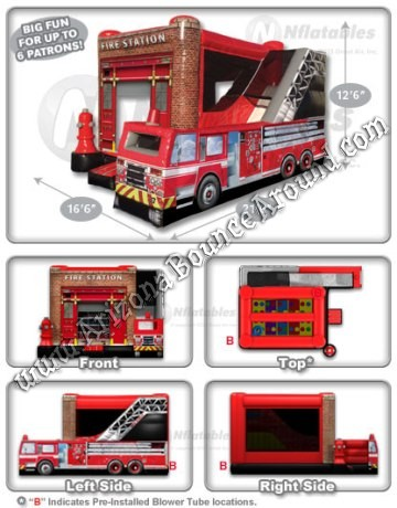 Fire Truck Themed Bounce House Rental Denver Colorado
