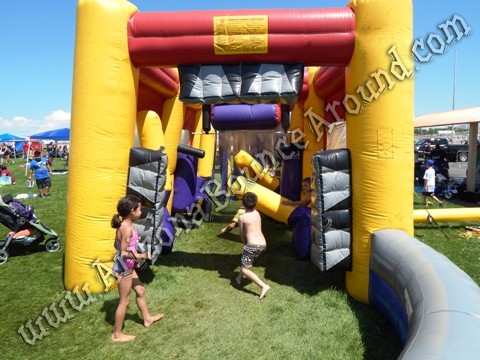 Inflatable car wash misting tent for events in Colorado