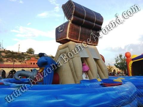 Pirate themed Inflatable obstacle course rental Denver