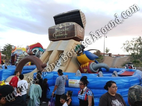 Pirate themed obstacle course rental
