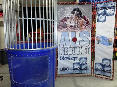 Rent a dunk tank for the ice bucket challenge Colorado