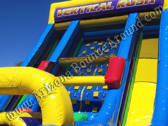 Rental Vertical rush inflatable obstacle course Colorado