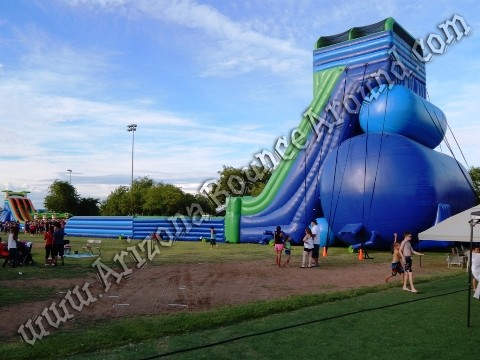 Giant inflatable water slides