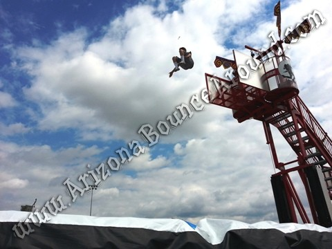 Stunt jumping air bag rentals Colorado