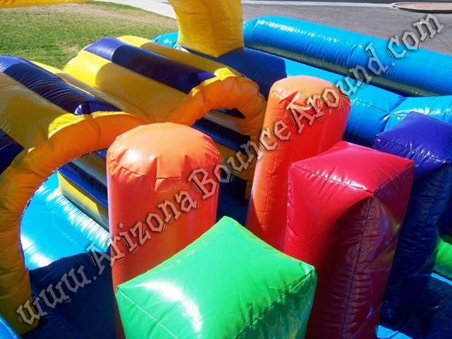 Vertical rush inflatable obstacle course for rental Denver Colorado