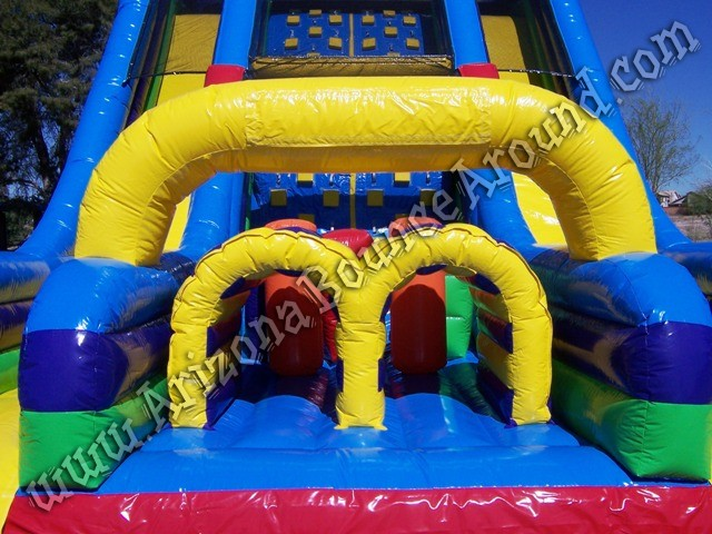 Vertical rush inflatable obstacle course rental Colorado