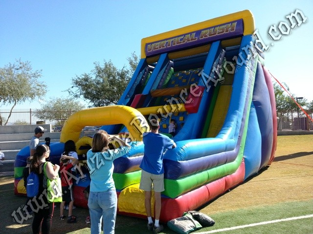 Vertical rush inflatable obstacle course rental Denver Colorado