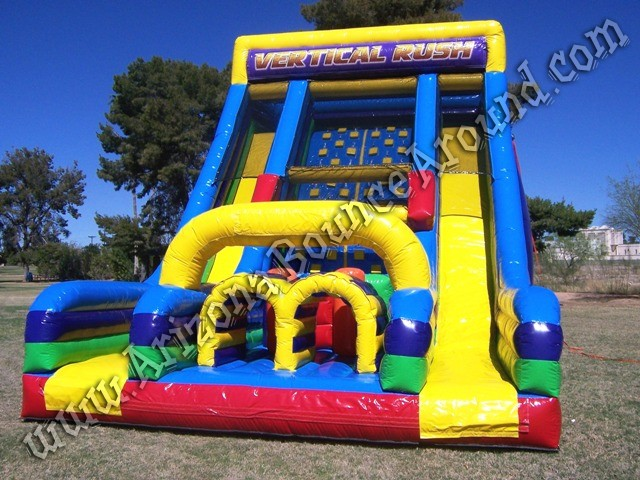 Vertical rush inflatable obstacle course rental Denver Colorado, California