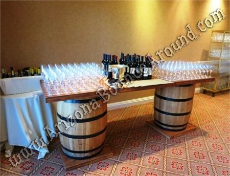 Wine barrel table rental Denver CO