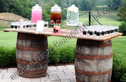 Wine barrel table rental Colorado Springs