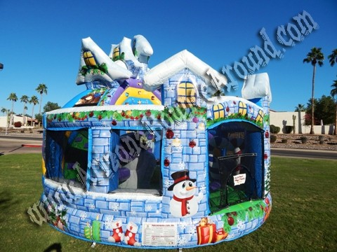WinterThemed Bounce House Rental Denver CO