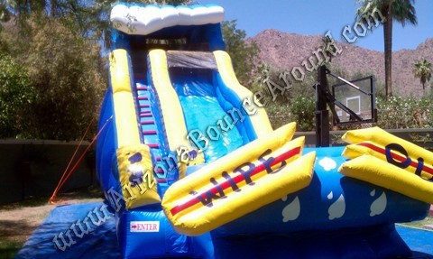 Wipe Out inflatable water slide rental