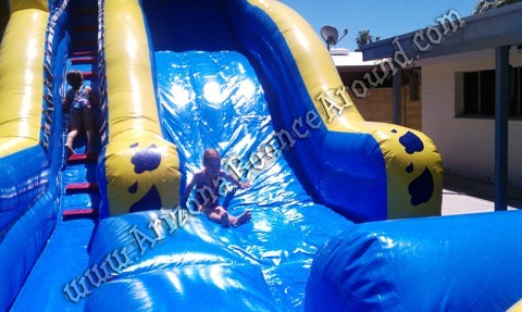 Wipe out water slide rental CO