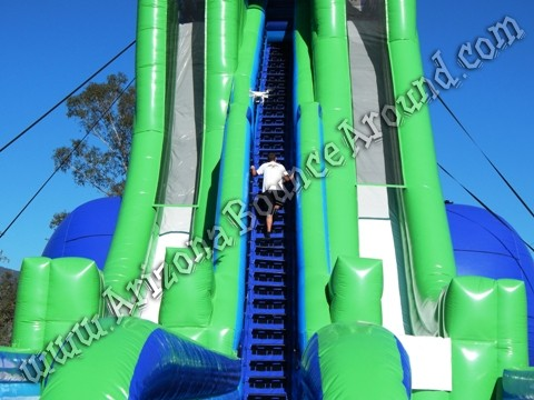 Worlds tallest inflatable water slide with duel lanes in Colorado