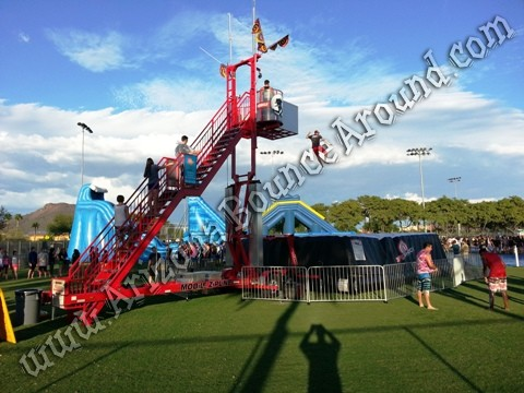 Zero shock stunt jumping tower rental CO