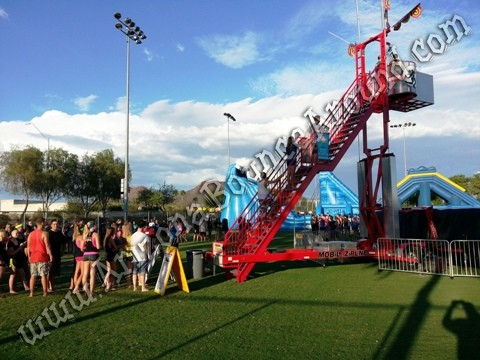 Zero shock stunt jumping tower rental Colorado