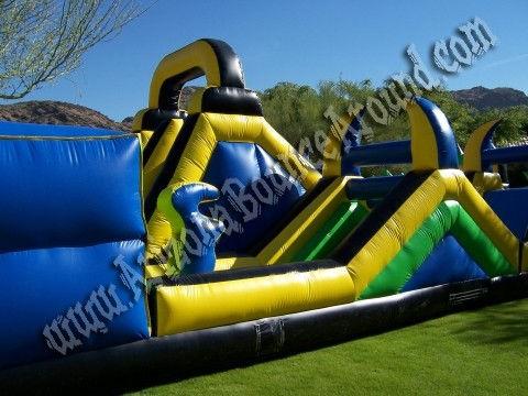 huge inflatable obstacle course rental Denver, Colorado