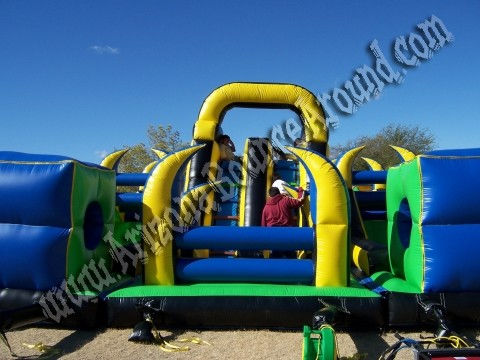 big inflatable obstacle course rental in Denver, Colorado