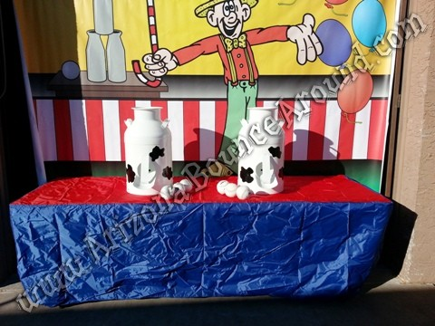 milk can carnival game rentals Denver Colorado
