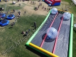 3 lane zorb ball track rental Denver