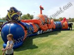 Pirate Themed Inflatable Crawl Thru Obstacle Course Rental, Buccaneers Revenge