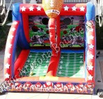 Inflatable football throwing game rental Denver Colorado