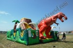Jurassic Themed Inflatable Obstacle Course Rental Denver Colorado