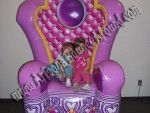 Princess Throne rental Denver, Colorado Springs, Aurora, Fort Collins, Colorado, CO, Giant Princess Chair rental CO