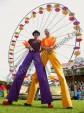 Hire circus stilt walkers in Denver Colorado