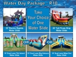 Water slide party packages around $1,100 in Denver Colorado